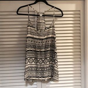 Tribal printed racer back tank top